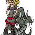 Une gothique et un dragon