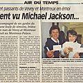 Ils auraient vu michael jackson - la presse riviera, 15 janvier 1997