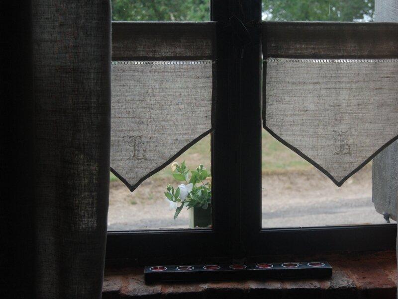 Brise bise de lin brod s photo de mes rideaux le point - Brise bise lin ...