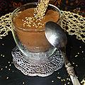 Mousse au chocolat et tahini