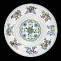 A doucai ogee dish. <b>Qianlong</b> <b>seal</b> <b>mark</b> <b>and</b> <b>of</b> <b>the</b> <b>period</b>