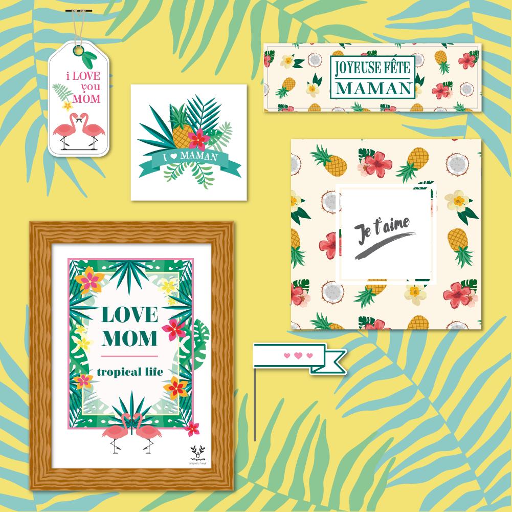 DIY printables : une fête des mères tropicale