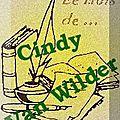 Le mois de... <b>Cindy</b> Van Wilder (Bilan)