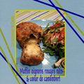 Muffins salés aux oignons rouges & noix coeur de camembert
