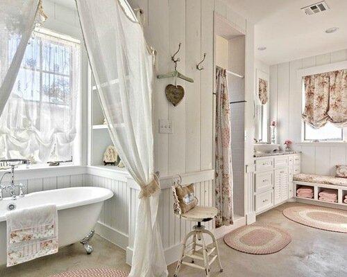 Une salle de bain romantique ... - Charme d\'Antan