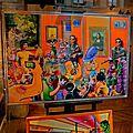 Les galeries d'art de la rue de Rivoli.