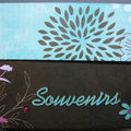 Boîte à photos chocolat et turquoise