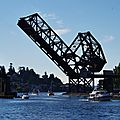 Pont a bascule Ballard Locks Seattle