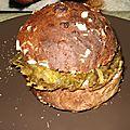 <b>Pain</b> burger maison aux <b>flocons</b> <b>d</b>'<b>avoine</b> et paillasson de pomme de terre - partie 1