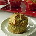 Muffins aux fraises séchées et à la noix de coco, sans gluten et sans lactose