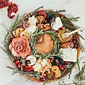 Planche apéro : du joli plateau de <b>charcuteries</b> et fromages à la couronne de Noël