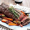 Rôti de bœuf aux carottes et herbes de Provence, Vacqueyras 2015 de la <b>Foire</b> aux <b>vins</b> NETTO {recette}