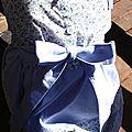 Rachel Farbenmix 5-6ans piqué bleu & fleurs bleues 6