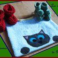 Cadeaux de naissance pour gaspard # 1: le bavoir chat (°o°)