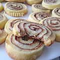 Biscuits sablés roulés au nutella et noisettes