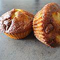 Muffins <b>pralinoise</b>, poires et noisettes