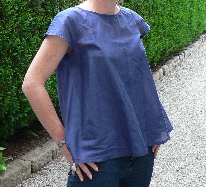 Blouse bleu indigo