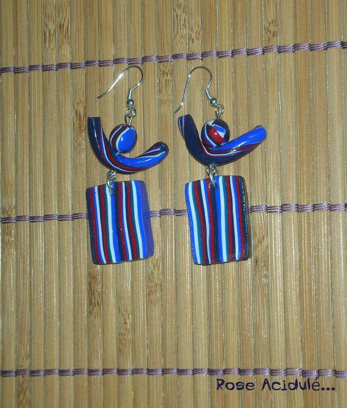 Boucles d'oreilles Bleu-blanc-rouge