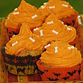 Cupcakes d'halloween tout orange