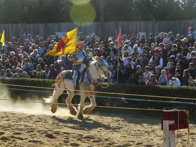 Un chevalier médiéval sur un champ de bataille américain...