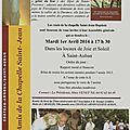 A.g. 2014 des amis de la chapelle saint-jean