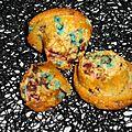 Muffins aux m&m's et beurre de cacahuètes