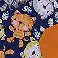 Nouvelle <b>serviette</b> de table élastique pour enfant Les chats