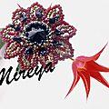 Bague Flor roja y dorada 3