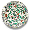 An Iznik polychrome pottery dish, Turkey, <b>circa</b> <b>1580</b>-90