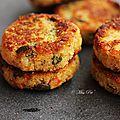 Galette de quinoa et graines de courge {sans gluten}