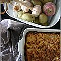 Gratin de navets & pommes de terre