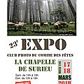 Exposition photos a la chapelle de surieu ce week-end - 17 & 18 mars !