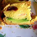 Cake salée avocat/truite/tomates séchées