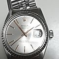 Retour de Rocollection : Rolex Perpetual Datejust <b>1601</b> lunette or gris diamètre 36mm