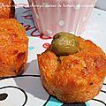 Minis cakes au chorizo, caviar de tomate et origan
