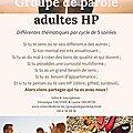 Groupe de parole adultes HP