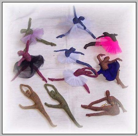 10 danseuses ballérines lavande Organza - Dominique M. de son pseudo Maninine ( Belgique)