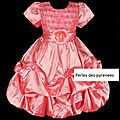-60% Destockage! <b>robe</b> fillette 8/9 ans saumon (réf rf-elsa)