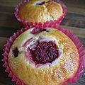 Muffins citron, framboises