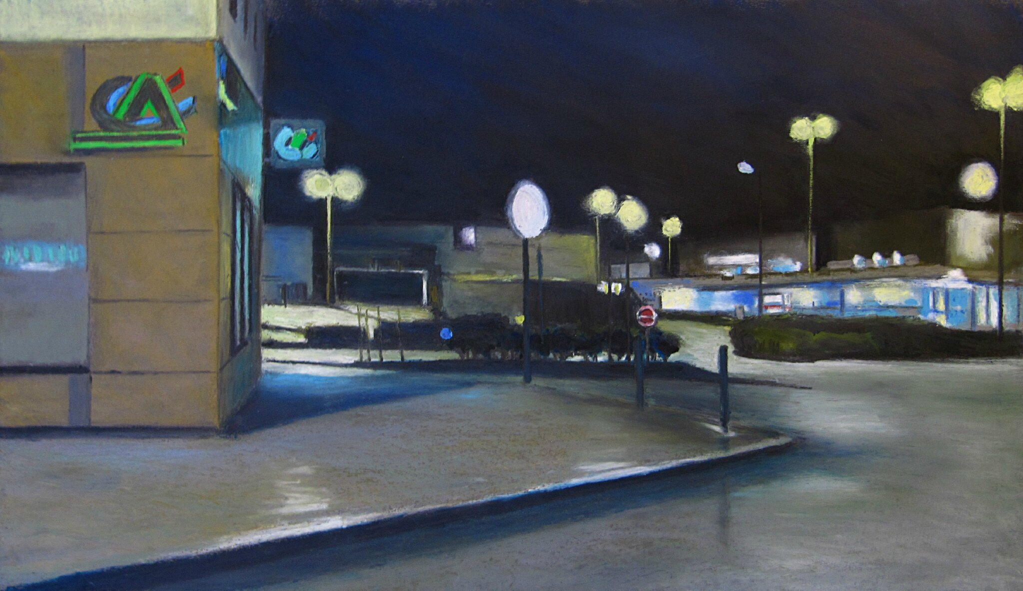 K'nowhere #11, pastel à l'huile sur papier, 65 x 47 cm