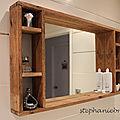 DIY DECO RECUP - Un miroir avec rangement en palette pour la salle de bain