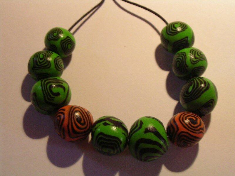 spirale vert/orange