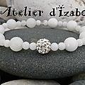 Quoi de plus joli que la pureté du blanc que l'on peut mettre avec toutes les tenues ! Avec ce <b>bracelet</b> blanc en perles d'opale