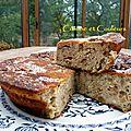 Gâteau à la brousse & aux noix ( sans farine ni matières grasses ajoutées )