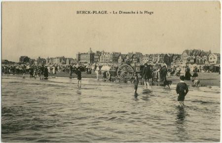62 - BERCK PLAGE - Le Dimanche à la plage