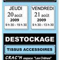 <b>Destockage</b> de Tissu chez