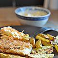 Poisson pané et frites maison !