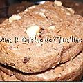 Cookies aux éclats de noisettes et pépites au chocolat au lait