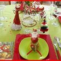 table de Noël rouge et anis 38