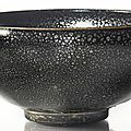 A <b>black</b>-<b>glazed</b> '<b>oil</b>-<b>spot</b>' <b>bowl</b>, Northern Song-Jin dynasty